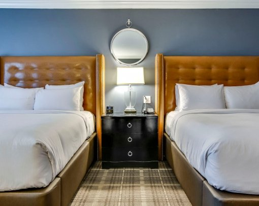 Two Double Beds and a side table