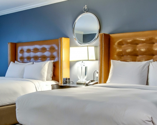 Two beds in guest room